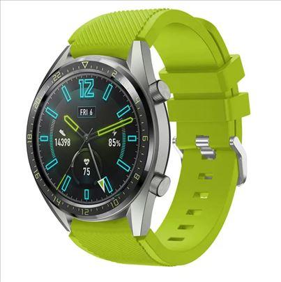 Zelena silikonska narukvica 22 za Samsung