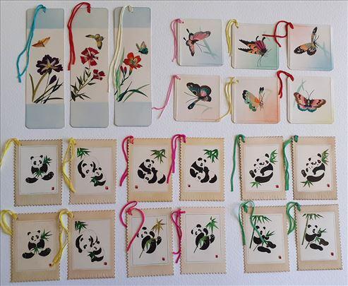 bookmarks, VINTAGE, obeleživači, papir, bambus