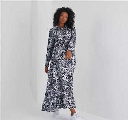 Nova dugacka tigrasta haljina L 100% pamuk