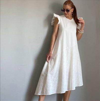 Nova zara bela haljina L pamuk