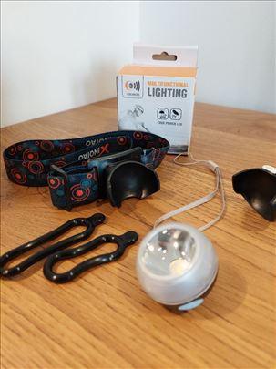 Svetlo za bicikl / glavu led punjiva 4 u 1 Lampa