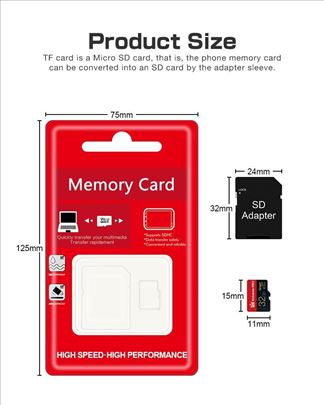Mikro sd kartica class 10 32 GB sa adapterom
