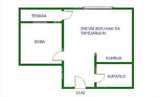 EKSKLUZIVNO. CENTAR 36 m2+Garaža 16 m2.Cena 90.000