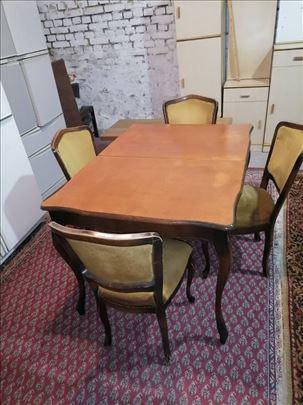 Trpezarijski sto i stolice