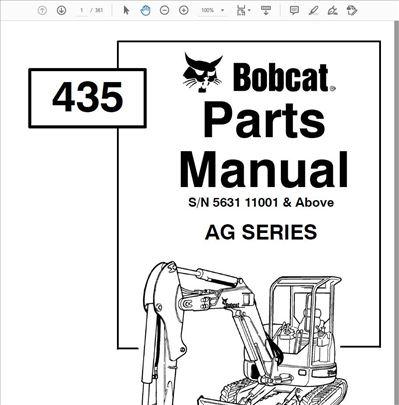 Bobcat mini utovarivači - Katalozi delova