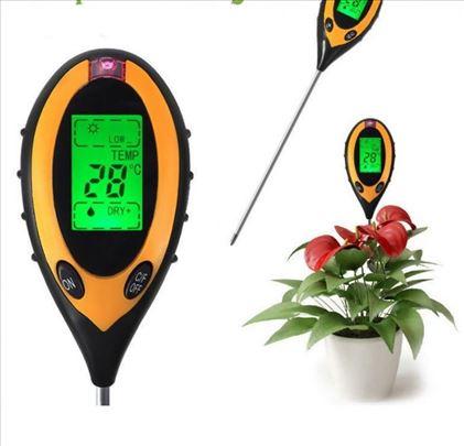 Tester zemljišta 4u1 pH metar, merač vlage svetlos
