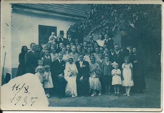 UDBINA Lika 11.8.1935. SVADBA - 6 x 9 cm