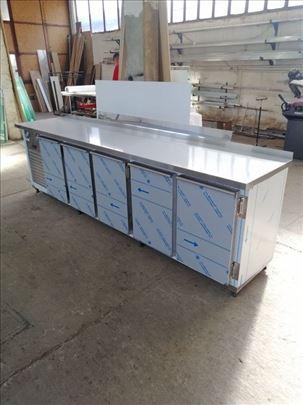 Inox hladni stolovi i ormani za plehove 400x600mm