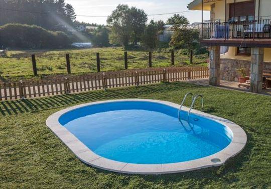 Ovalni montažni bazen GRE ukopni- set (dubina 1,5)
