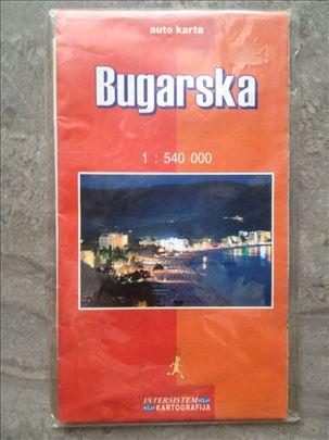 Auto-karta Bugarske - Intersistem