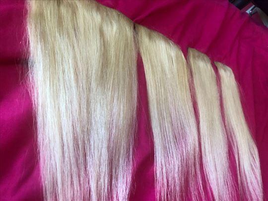 Prirodna kosa plava na klipse placena 200 evra