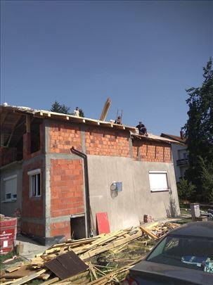 Izgradnja krova, badža i nadogradnje kuća