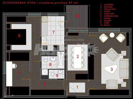 Na prodaju stan u centru VALJEVA, 67 m2