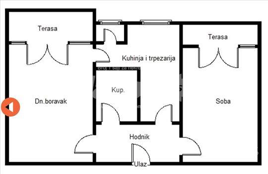 Vrdnik, dvosoban, četvrti sprat, 67 m2