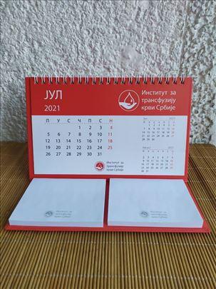 Sklopivi Stoni Kalendar 2021. Sa Ceduljicama
