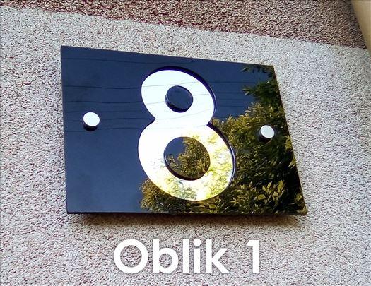 Brojevi za kuću od pleksiglasa