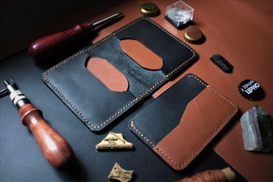 Minimalistički kožni novčanik i držač za kartice