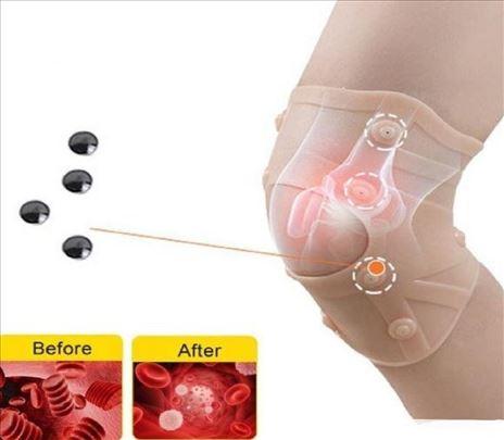 Magnetni silikonski steznik za koleno