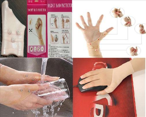 Magnetni silikonski stezniik za zglob ruke
