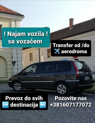 Iznajmljivanje vozila sa vozačem