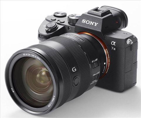 Sony A7 mark III + Sony 24-105mm f/4 G OSS - NOVO