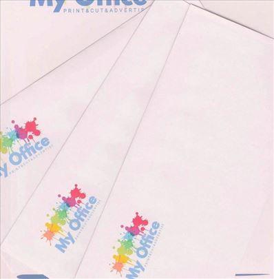Koverte 110x220 mm (ameriken) sa štampom