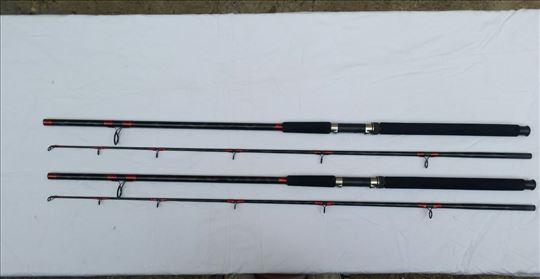 2 SHIMANO štapa 2,40m akcije: 100-200 gr