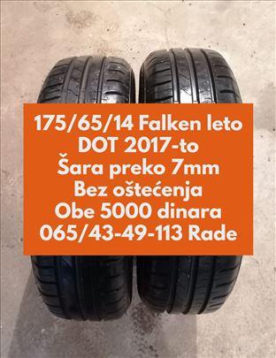 Dve lernje Falken 175/65/14,2017-o, 7+mm, ODLIČNE