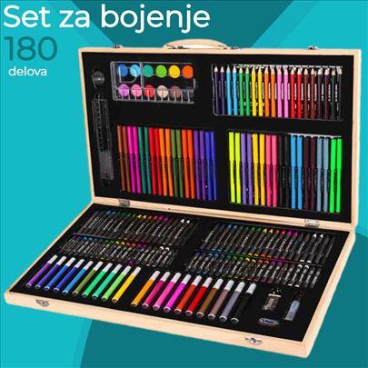 Školski set za crtanje i slikanje od 180 delova