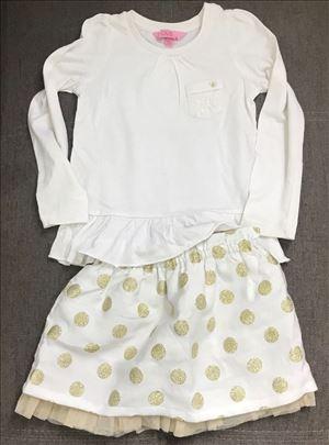 Suknja na tufnice i majica