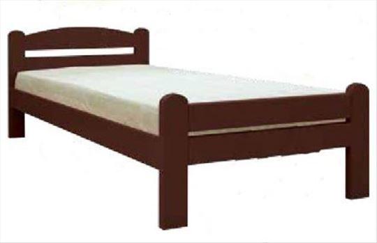 Prodajem lučni krevet wenge boje, sa dušekom.