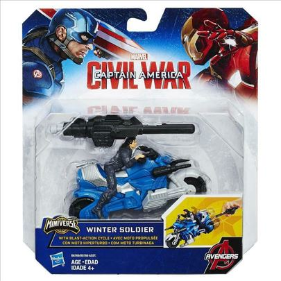 Marvel Winter Soldier With Blast-Action Cycle