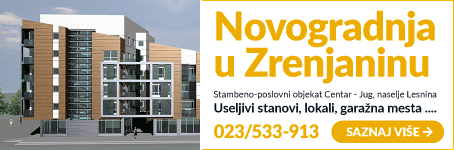 Novogradnja u Zrenjaninu • Useljivi stanovi, lokali, garažna mesta