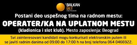 Balkan Bet: Operater/ka na uplatnom mestu