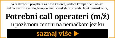 Portebni call operateri u pozivnom centru na nemačkom jeziku
