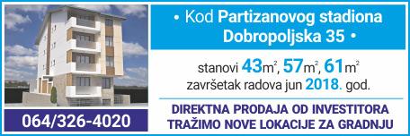 Dobropoljska 35 - kod Partizanovog stadiona