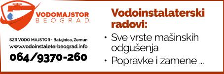 Vodomajstor Beograd / Vodoinstalaterske usluge