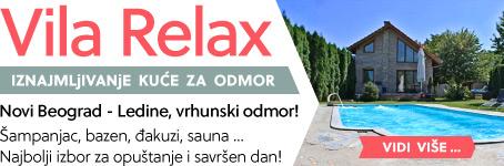 Vila Relax  |  Šampanjac, bazen, đakuzi, sauna ...