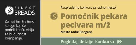 Pekari FInest Breads poterban pomoćnik pekara pecivara (m/ž)