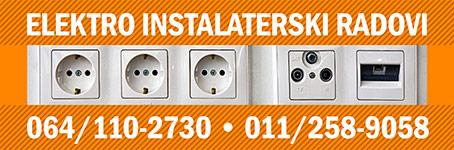 Električar - Elektro instalaterski radovi