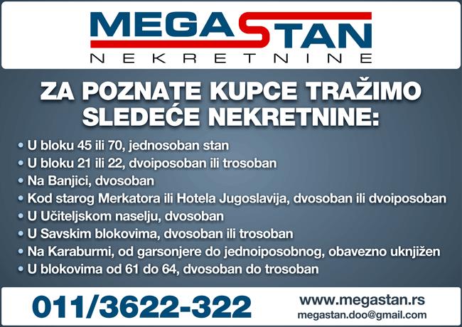 Agenciji Megastan potrebni agenti