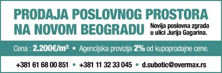 Prodaja poslovnog prostora na Novom Beogradu