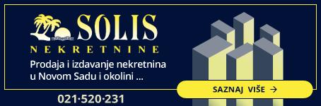 Solis nekretnine  •  Prodaja i izdavanje nekretnina u Novom Sadu
