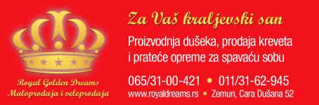 Royal Golden Dreams  /  Dušeci, kreveti i oprema za spavaću sobu