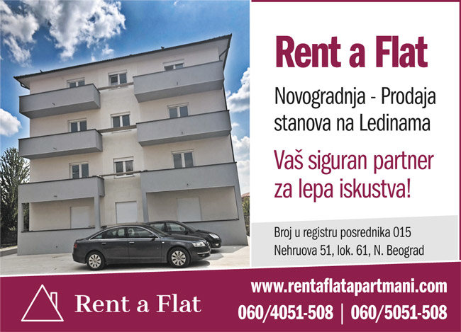 Rent-A-Flat  /  Apartmani na dan u Beogradu