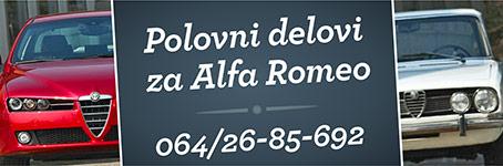 Polovni auto delovi za Alfa Romeo