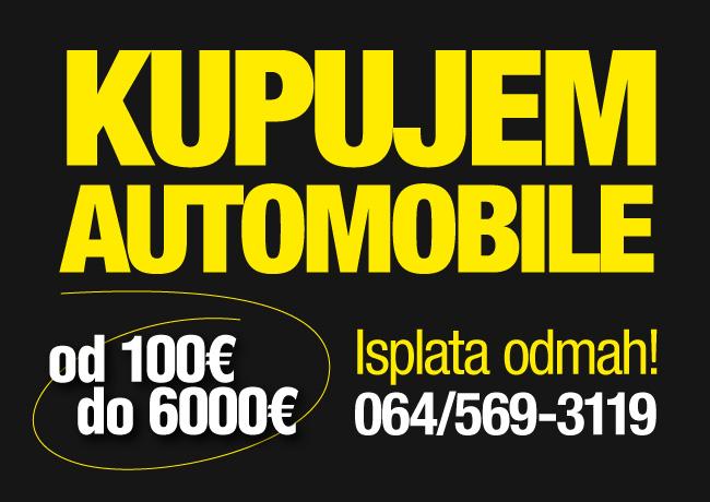 Kupujem automobile od 100 do 6000 EUR