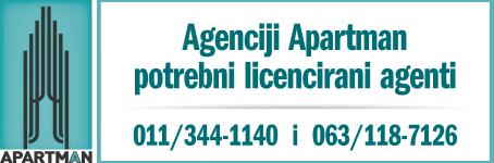 Agenciji Apartman potrebni licencirani agenti