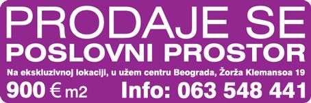 Prodaja poslovnog prostora u centru Brograda