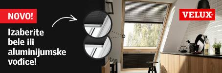 Velux krovni prozori - Izaberite bele ili aluminijumske vođice